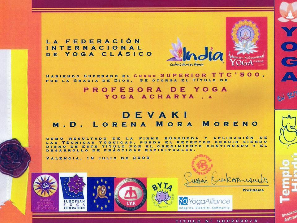 titulo-yoga Devaki Dasi Acharya